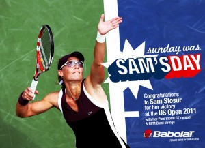 Babolat Pure Storm GT used by Sam Stosur, winner of the US Open 2011