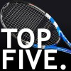 here are our top five tennis rackets suitable for aggressive tennis players