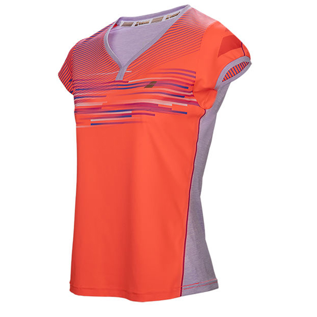 Babolat Girls Perf Cap Sleeve Fluo Strike