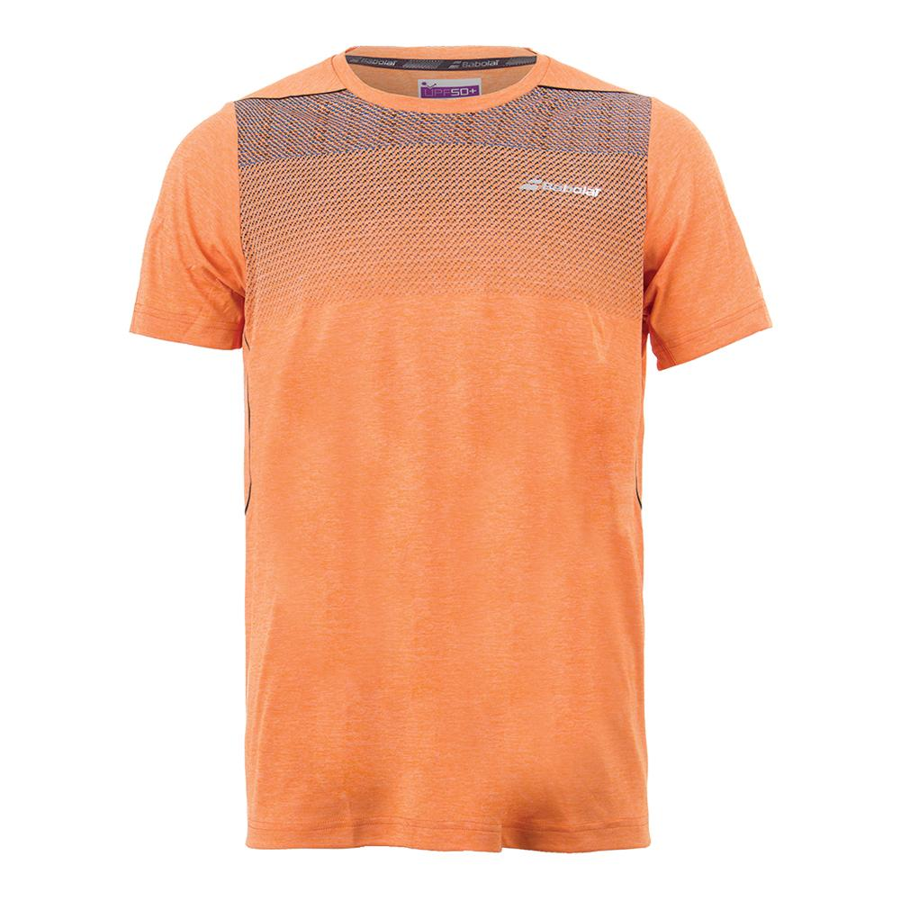 Babolat Mens Performance Crew Neck T-Shirt Orange
