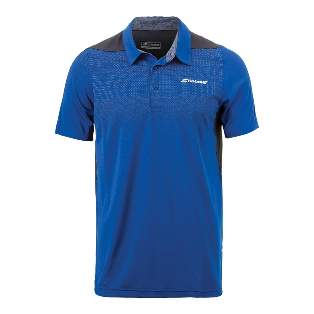 Babolat Mens Performance Polo Nautical Blue