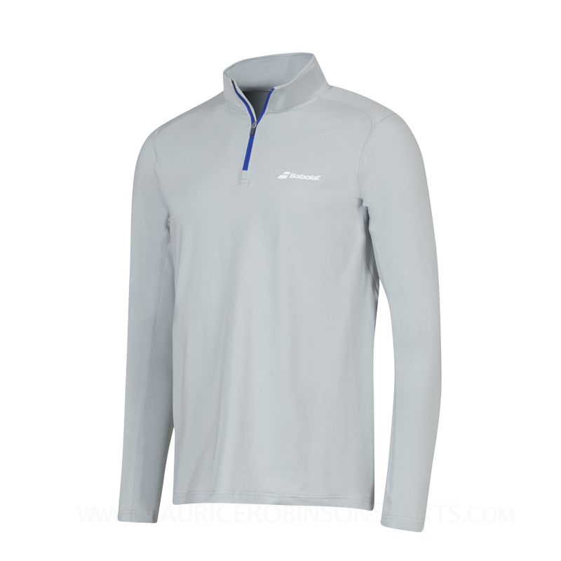 Babolat Mens Half Zip Core Grey