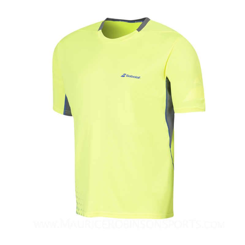 Babolat Boys Performance Crew Neck T-Shirt Yellow