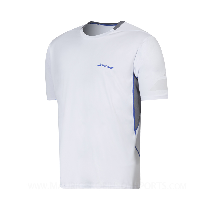 Babolat Boys Performance Crew Neck T-Shirt White