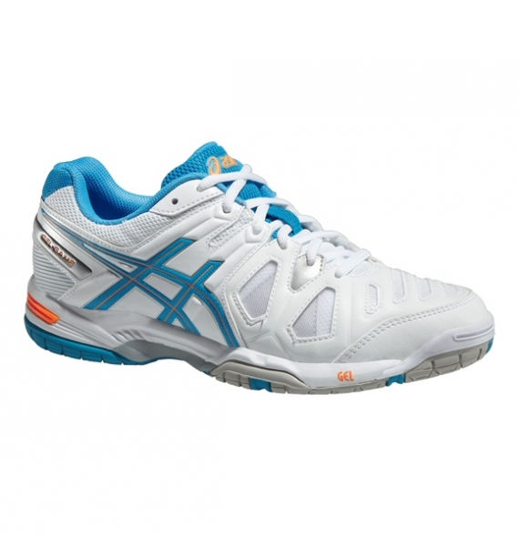 Asics Gel-Game 5  White-Blue-Nectarine