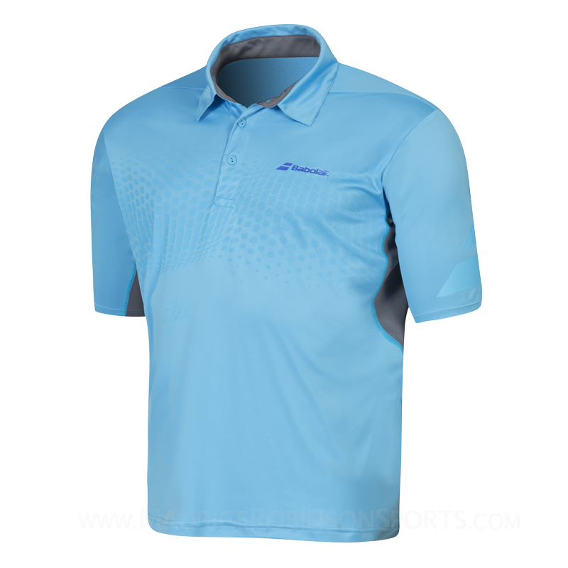 Babolat Mens Performance Polo Aquarius