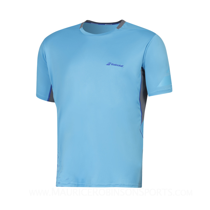 Babolat Mens Performance Crew Neck T-Shirt Aquarius