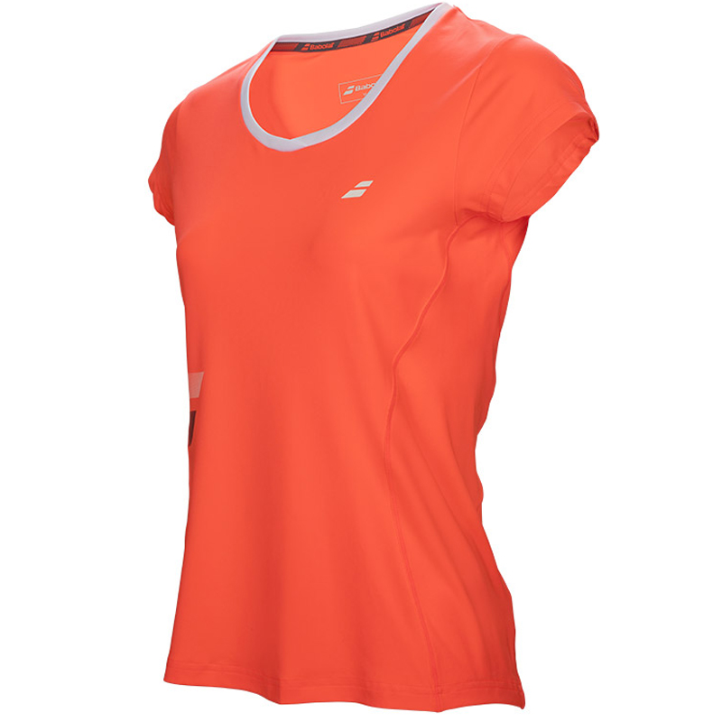 Babolat Girls Core Flag Club Tee Fluo Strike