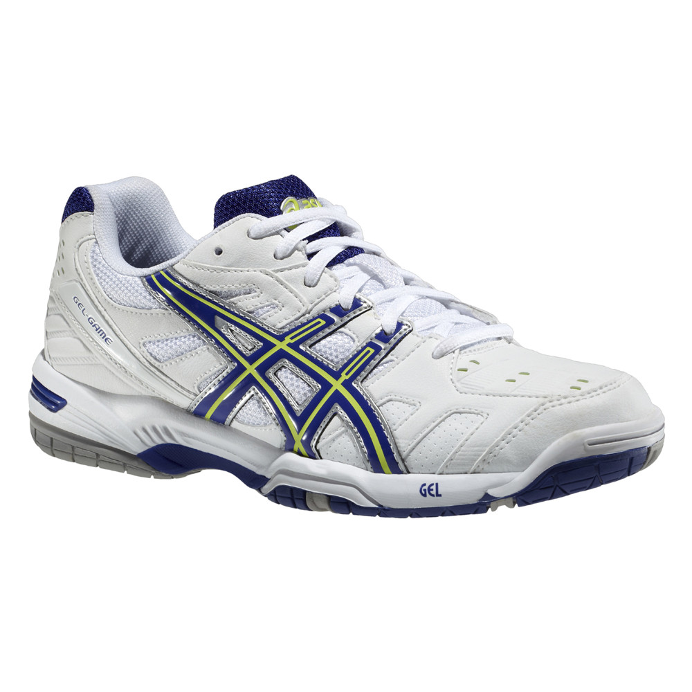 Asics Gel Game 4 White-Royal Blue-Sharp Green