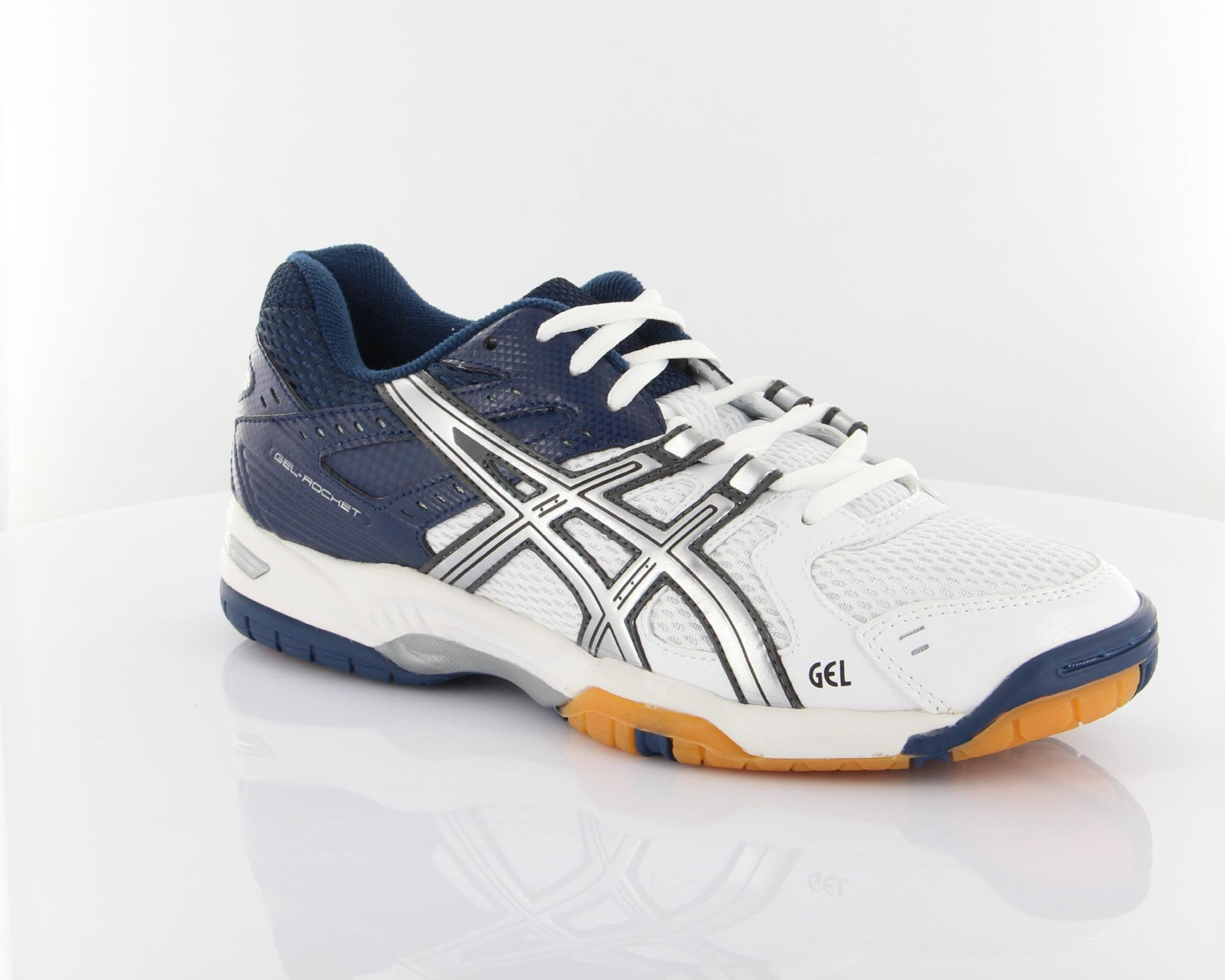 Asics Gel Rocket 6 White-Lightning-Blue