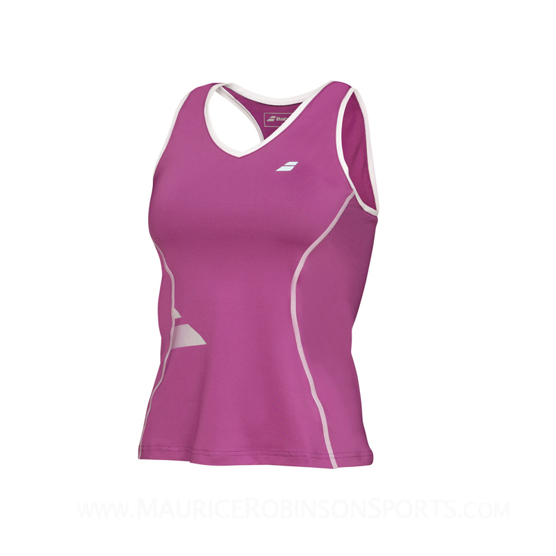 Babolat Ladies Core Tank Crop Deep Orchid