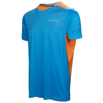 Babolat Mens Performance Crew Neck T-Shirt Drive Blue