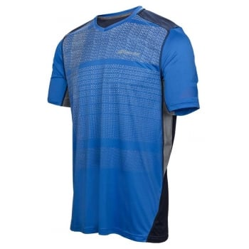 Babolat Mens Performance V Neck T-Shirt Nautical Blue