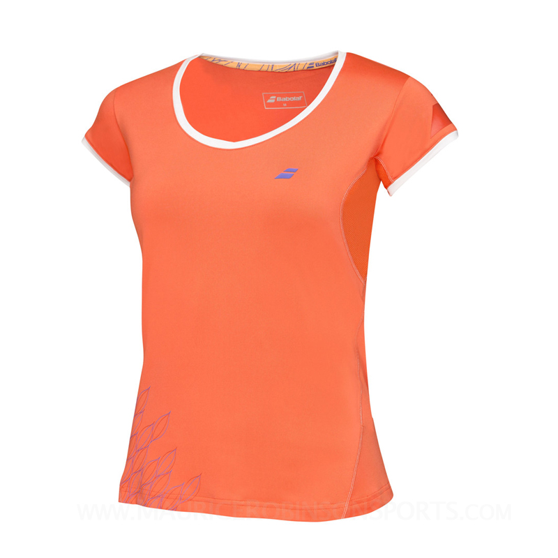 Babolat Ladies Performance Club Sleeve T-shirt Tomato