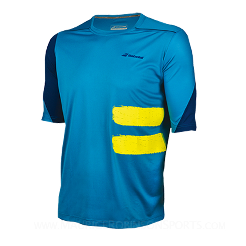 Babolat Mens Performance Compression Tee Blue