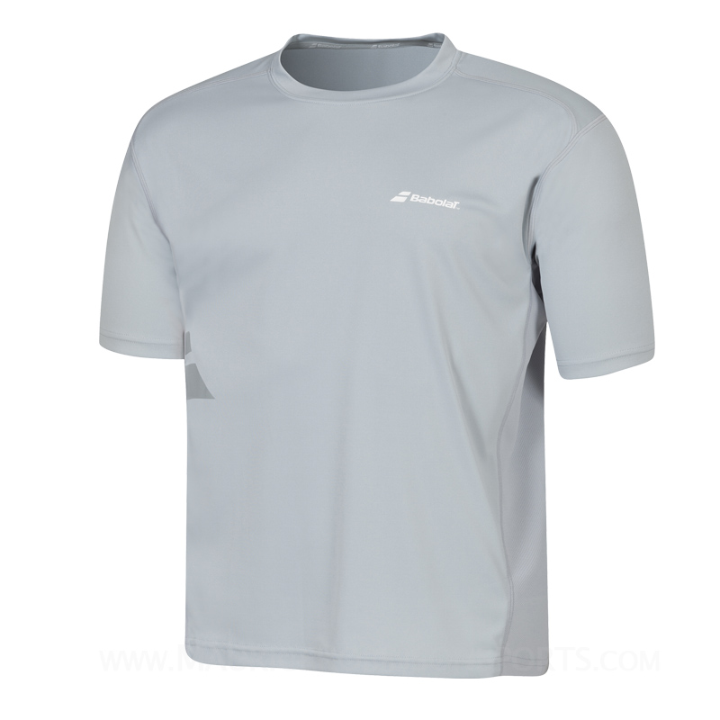 Babolat Mens Flag Core T-Shirt Grey