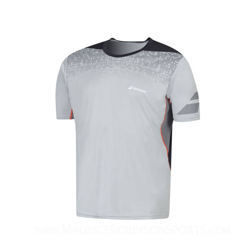 Babolat Mens Performance Crew Neck T-Shirt Grey