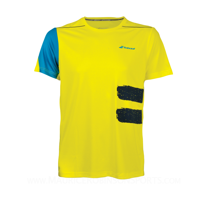 Babolat Boys Performance Crew Neck Tshirt Yellow
