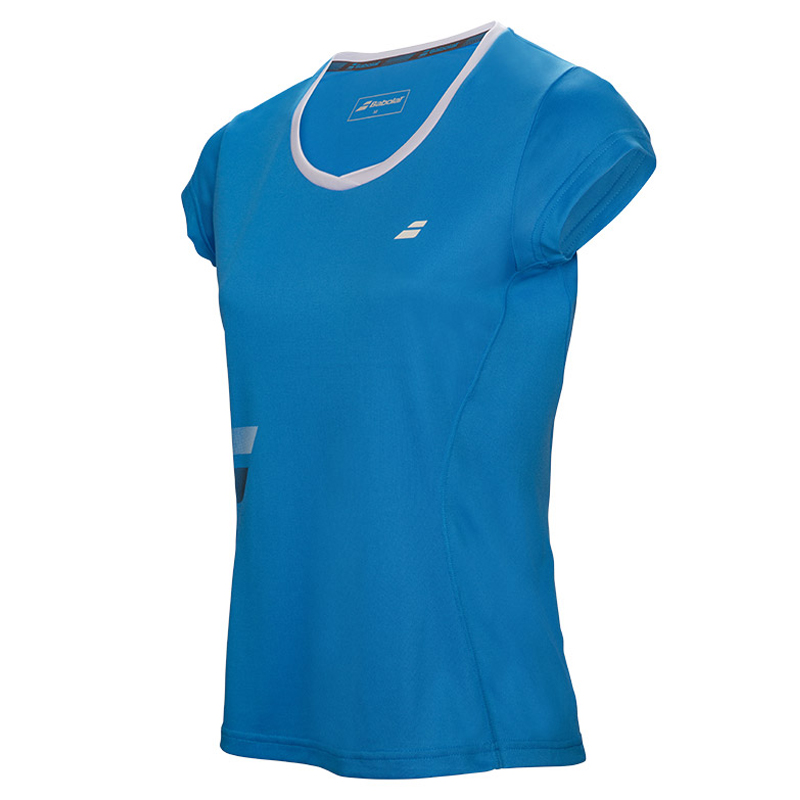 Babolat Girls Core Flag Club Tee Drive Blue