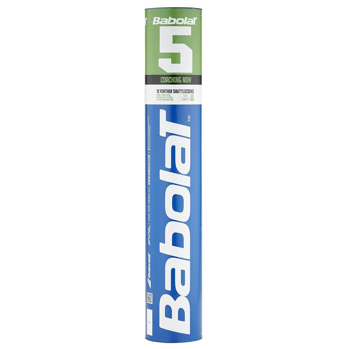 Babolat 5 Feather Badminton Shuttles