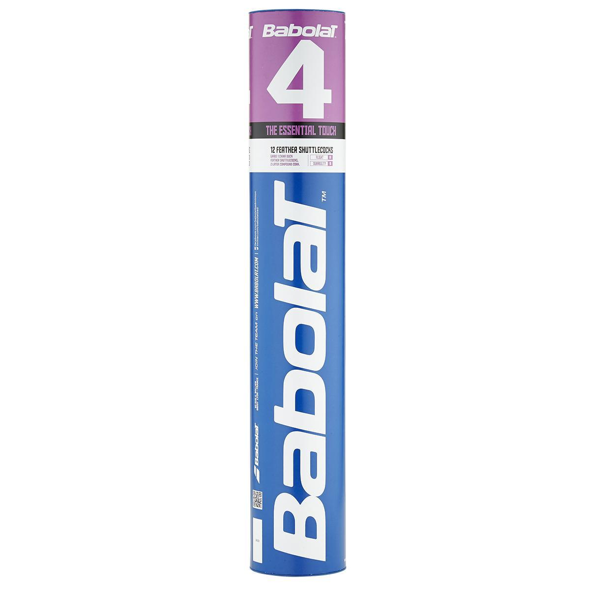 Babolat 4 Feather Badminton Shuttles