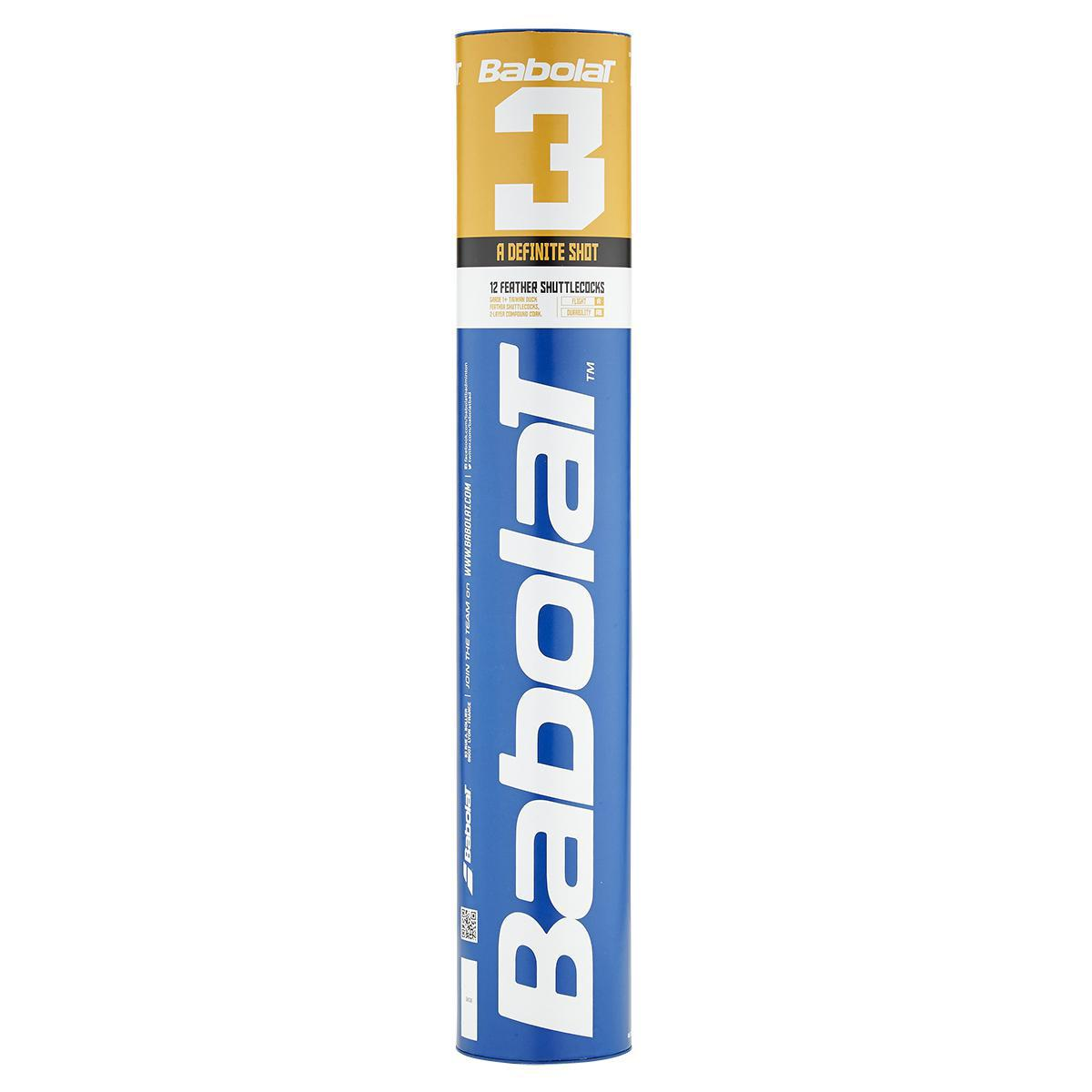 Babolat 3 Feather Badminton Shuttles