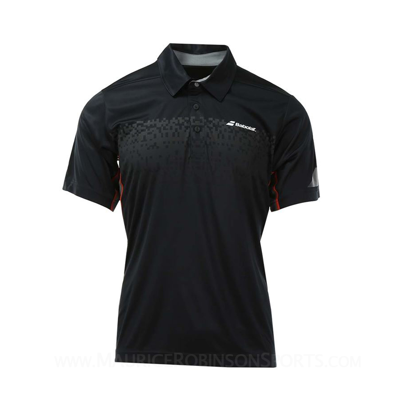 Babolat Mens Performance Polo Black