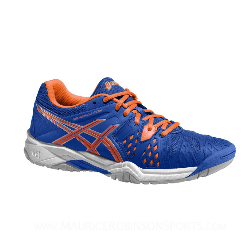 Asics Gel Resolution 6 Junior Blue-Orange-Silver