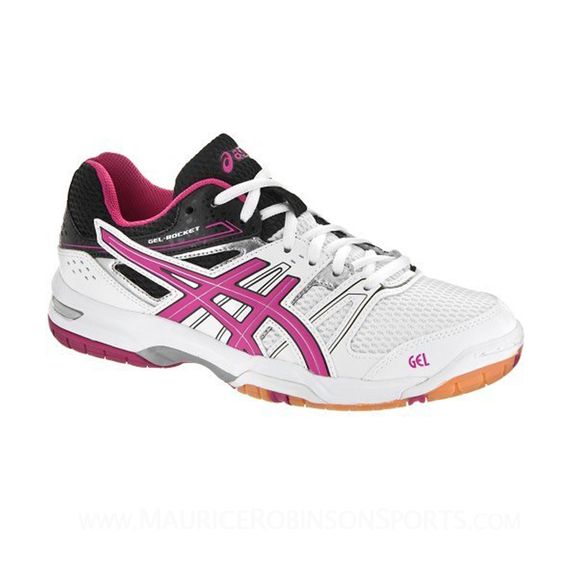 Asics Gel-Rocket 7 White-Magenta-Black