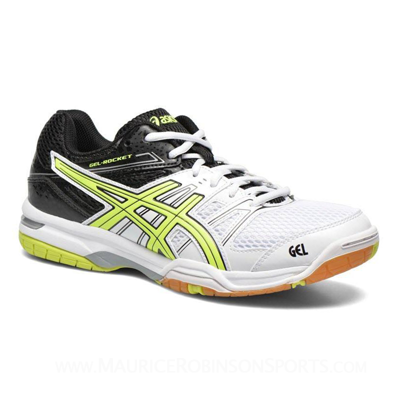 Asics Gel Rocket 7 White-Yellow-Black