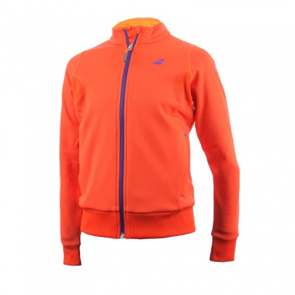 Babolat Girls Performance Sweat Jacket Tomato