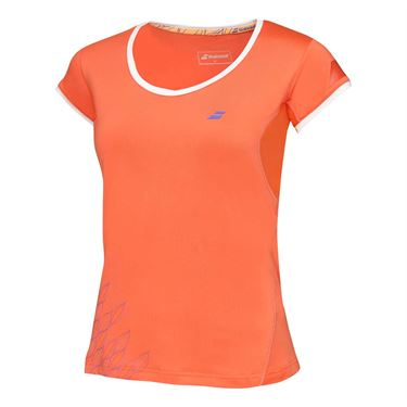 Babolat Girls Performance Cap Sleeve T-Shirt Tomato