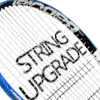 racket string and racket grip upgrade available on the Babolat Boost Strike Wht-Red!